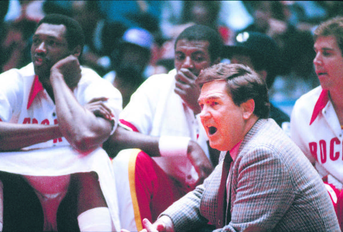 Bill Fitch, Rockets Inherited a 14-68 team from Harris in 1983-84, then went 29-53 in Ralph Sampson's rookie season before improving to 51-31 and reaching the NBA Finals with Sampson playing beside rookie Hakeem Olajuwon. But he won just one more playoff series the next two seasons before being fired and succeeded by Don Chaney.