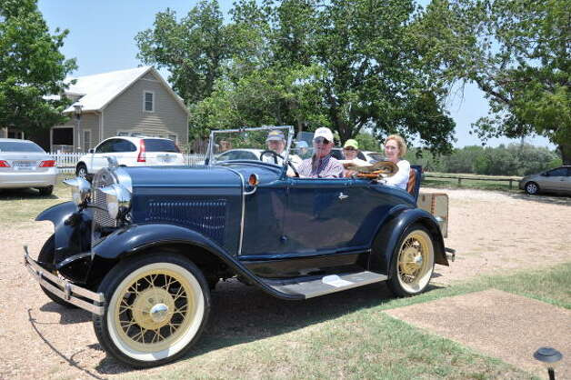 Leon Hale is 10 years older than this 1931 Model A Ford. Photo: Melissa Ward Aguilar, Chronicle
