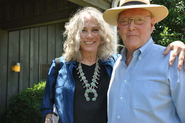Callie and Fred Heacock of Nelsonville attended the birthday lunch. Photo: Melissa Ward Aguilar, Chronicle