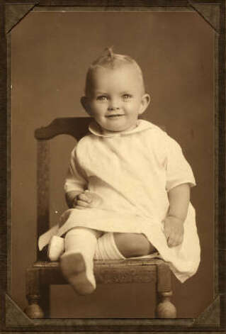 Leon Hale as an infant. He was born May 30, 1921.