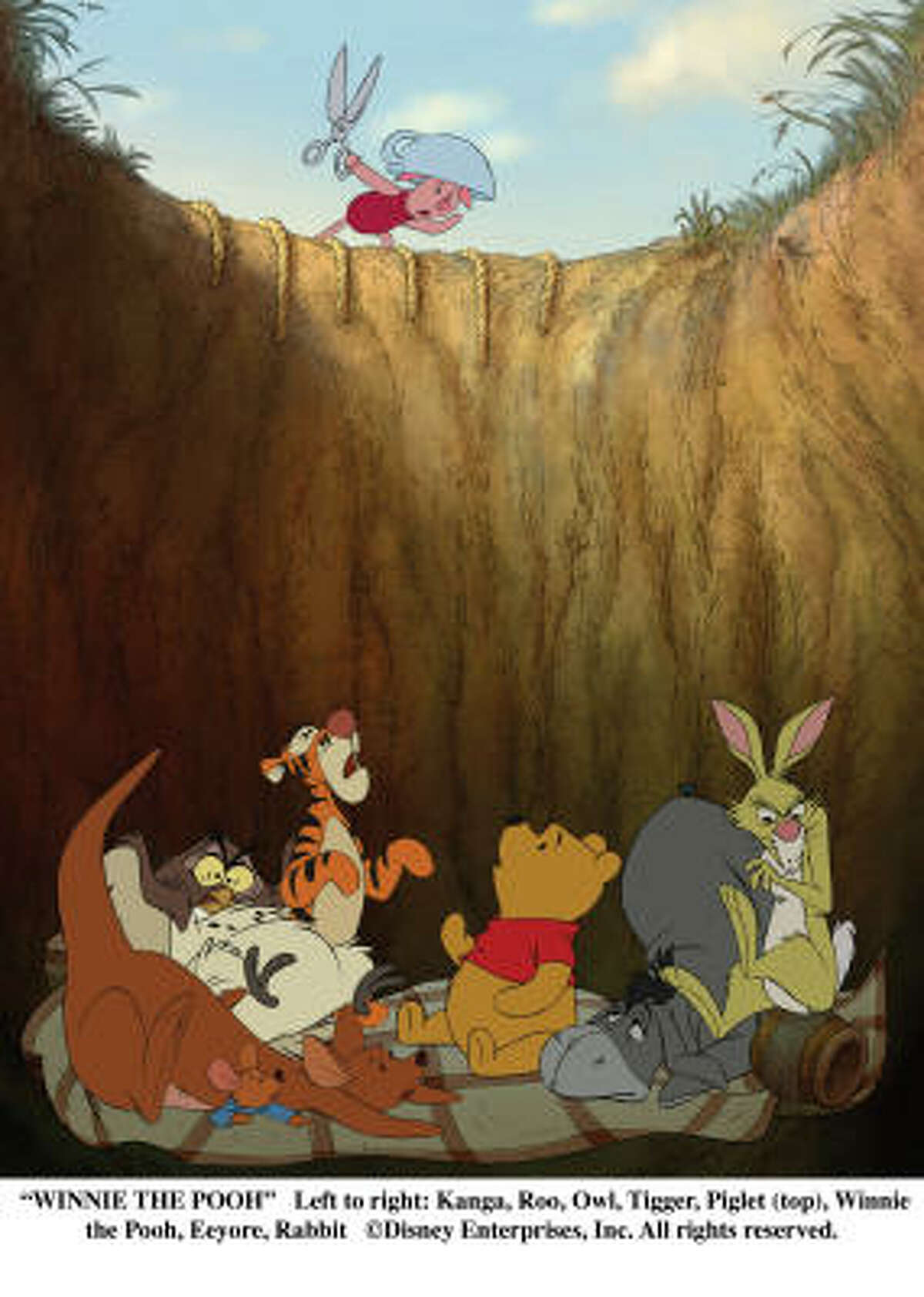 A timeless classic: Winnie the Pooh: During an ordinary day in Hundred Acre Wood, Winnie the Pooh sets out to find some honey. Misinterpreting a note from Christopher Robin, Pooh convinces Tigger, Rabbit, Piglet, Owl, Kanga, Roo, and Eeyore that their young friend has been captured by a creature named