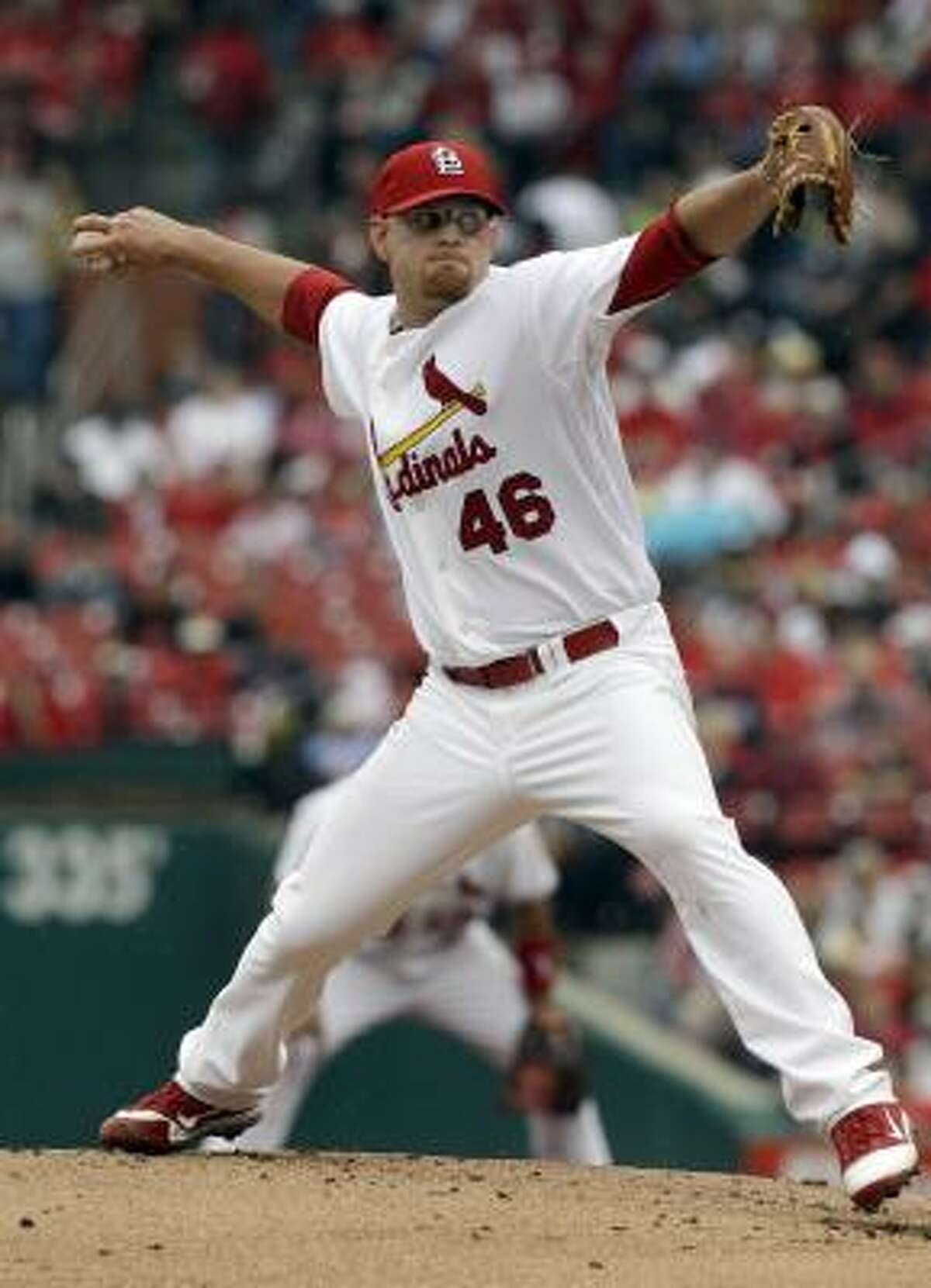 Cardinals starter Kyle McClellan improved to 6-1 after holding the Astros to two runs in eight innings.