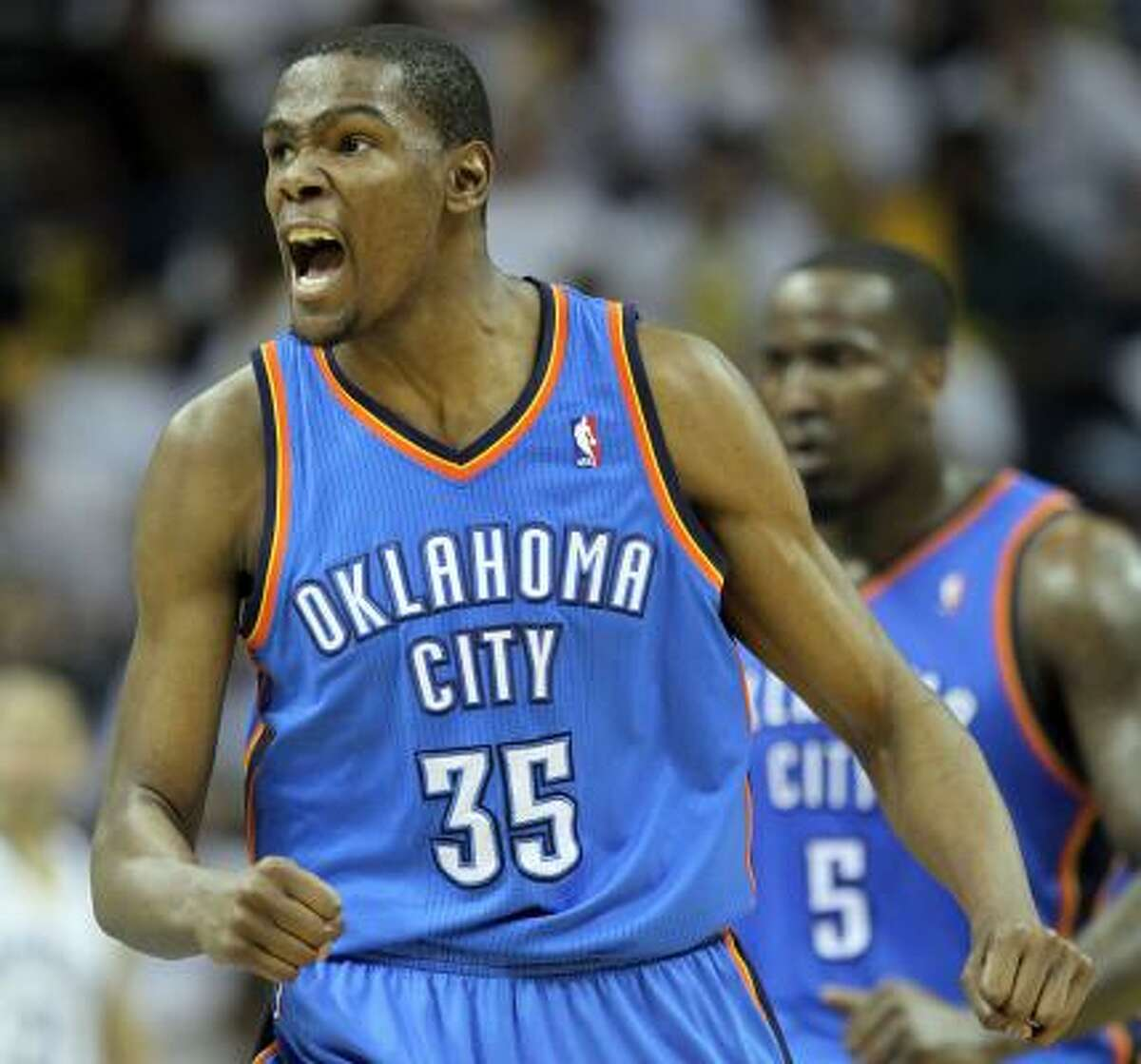 First team Kevin Durant, F, Oklahoma City