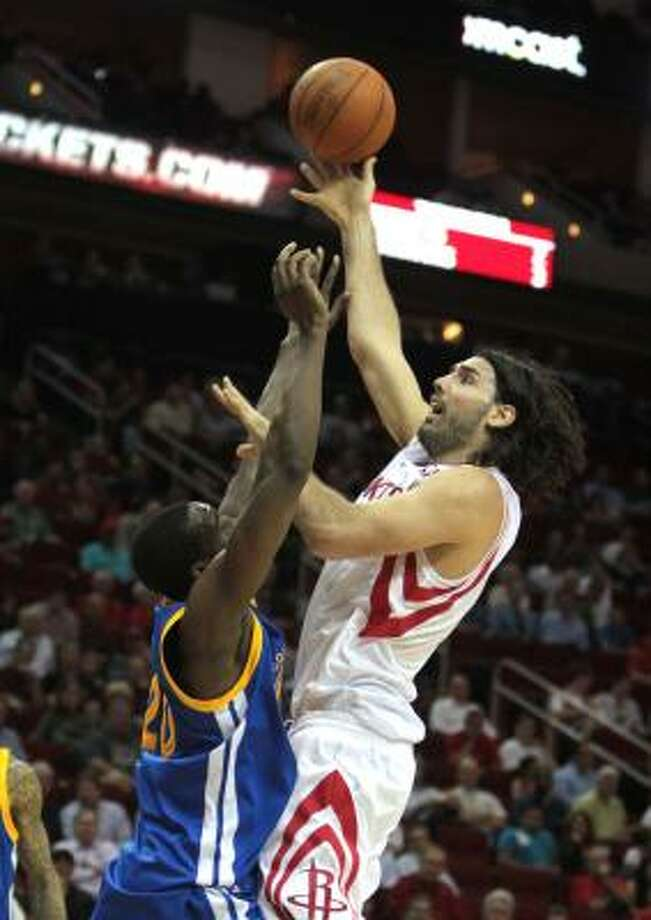 Rockets forward Luis Scola received one vote. Photo: Billy Smith II, Chronicle