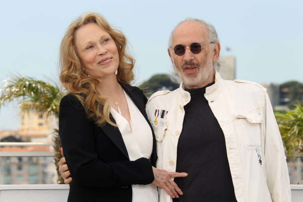 Actress Faye Dunaway and director Jerry Schatzberg pose during the photocall of