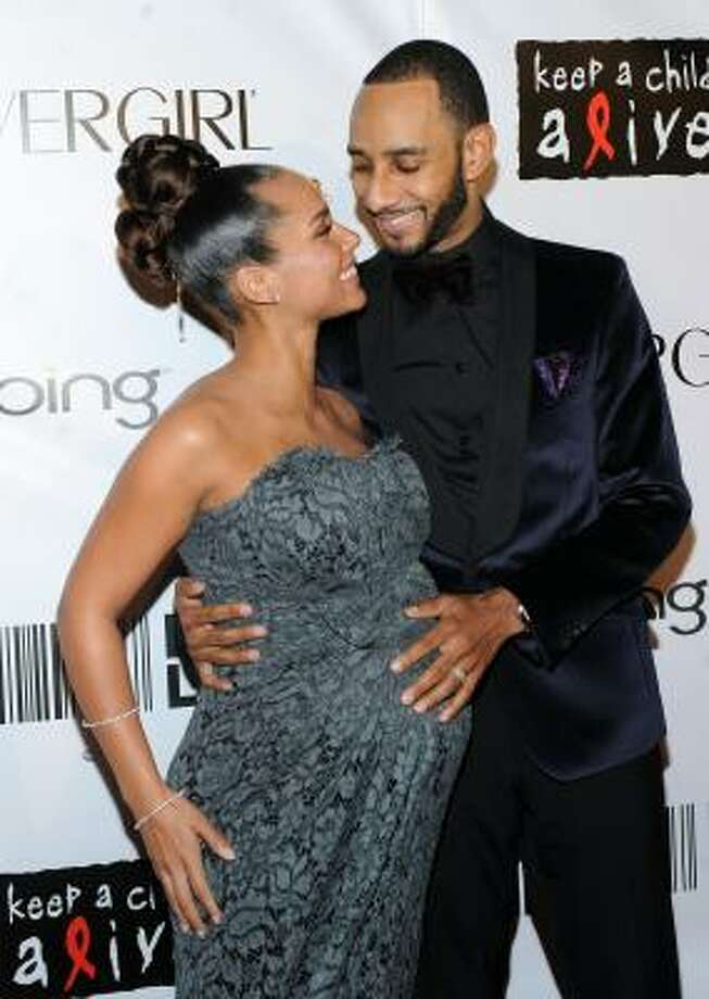 Alicia Keys and Kaseem 'Swizz Beatz' Dean:Kid's name: Egypt Daoud Photo: Stephen Lovekin, Getty Images