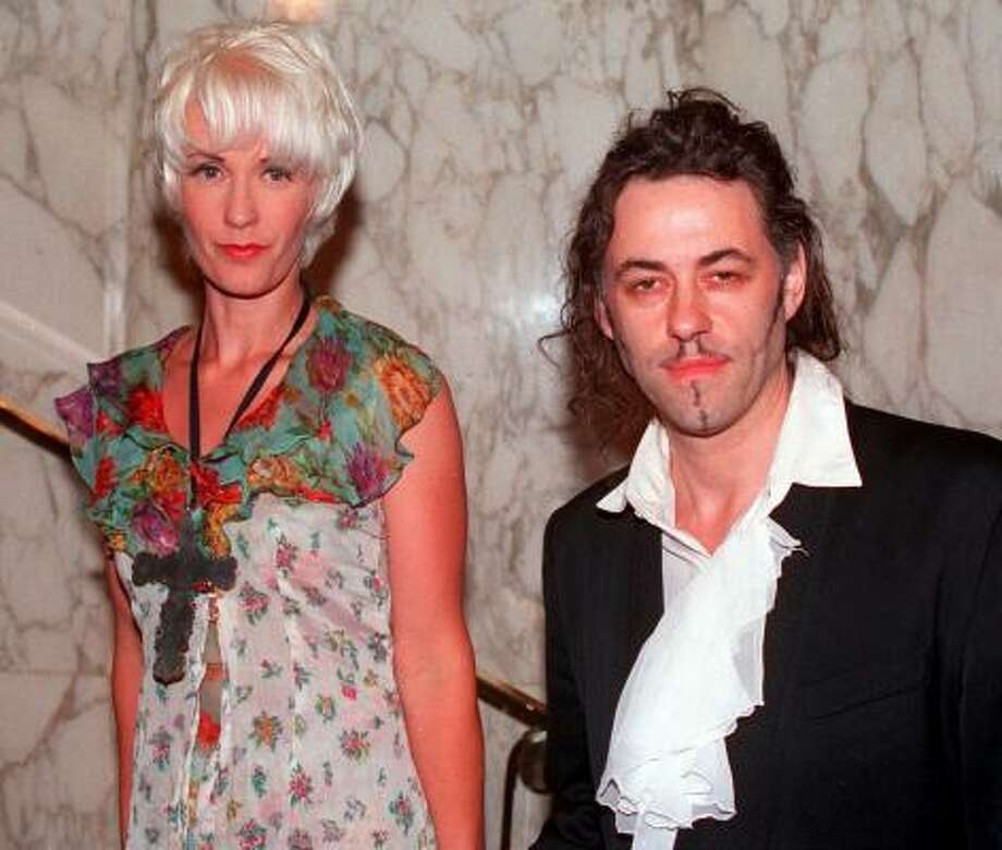 Paula Yates and Bob Geldof:Kids' names: Fifi Trixibelle, Peaches Honeyblossom and Little Pixie (also Heavenly Hiraani Tiger Lily) Photo: MICHAEL STEPHENS, AP