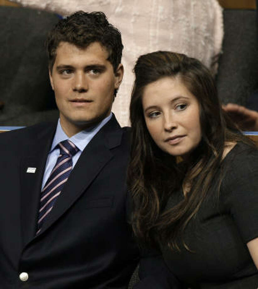 Bristol Palin and Levi Johnston:Kid's name: Tripp Photo: Paul Sancya, AP