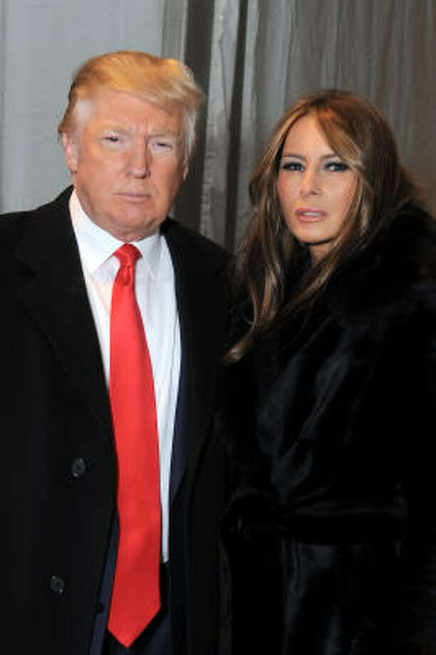 Donald Trump and Melania Trump:Kid's name: Barron Photo: Katy Winn, Getty Images For IMG