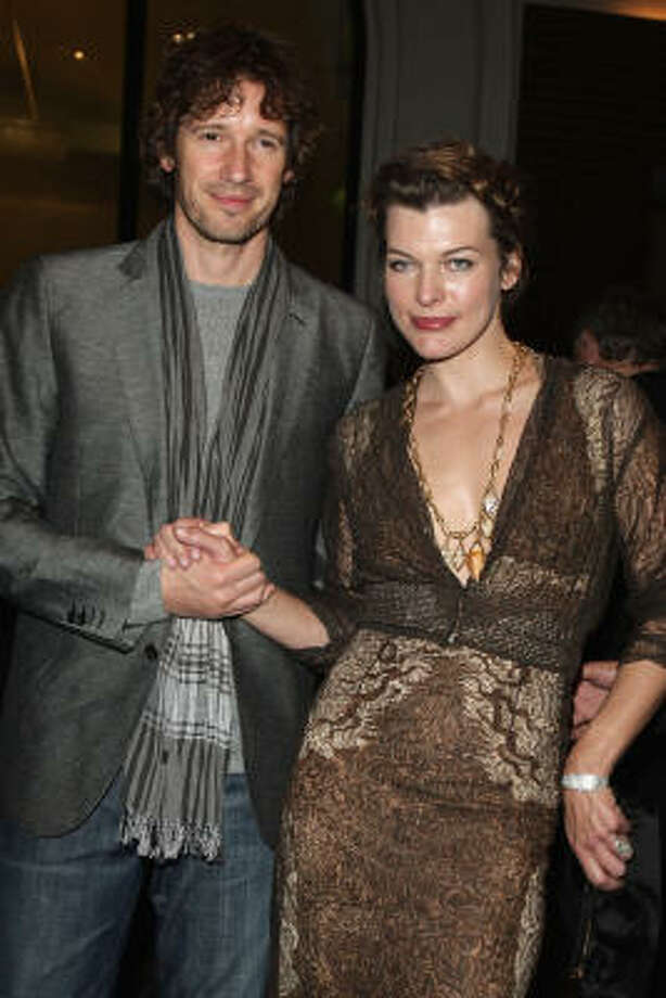 Milla Jovovich and Paul Anderson:Kid's name: Ever Gabo Photo: Francois Durand, Getty Images