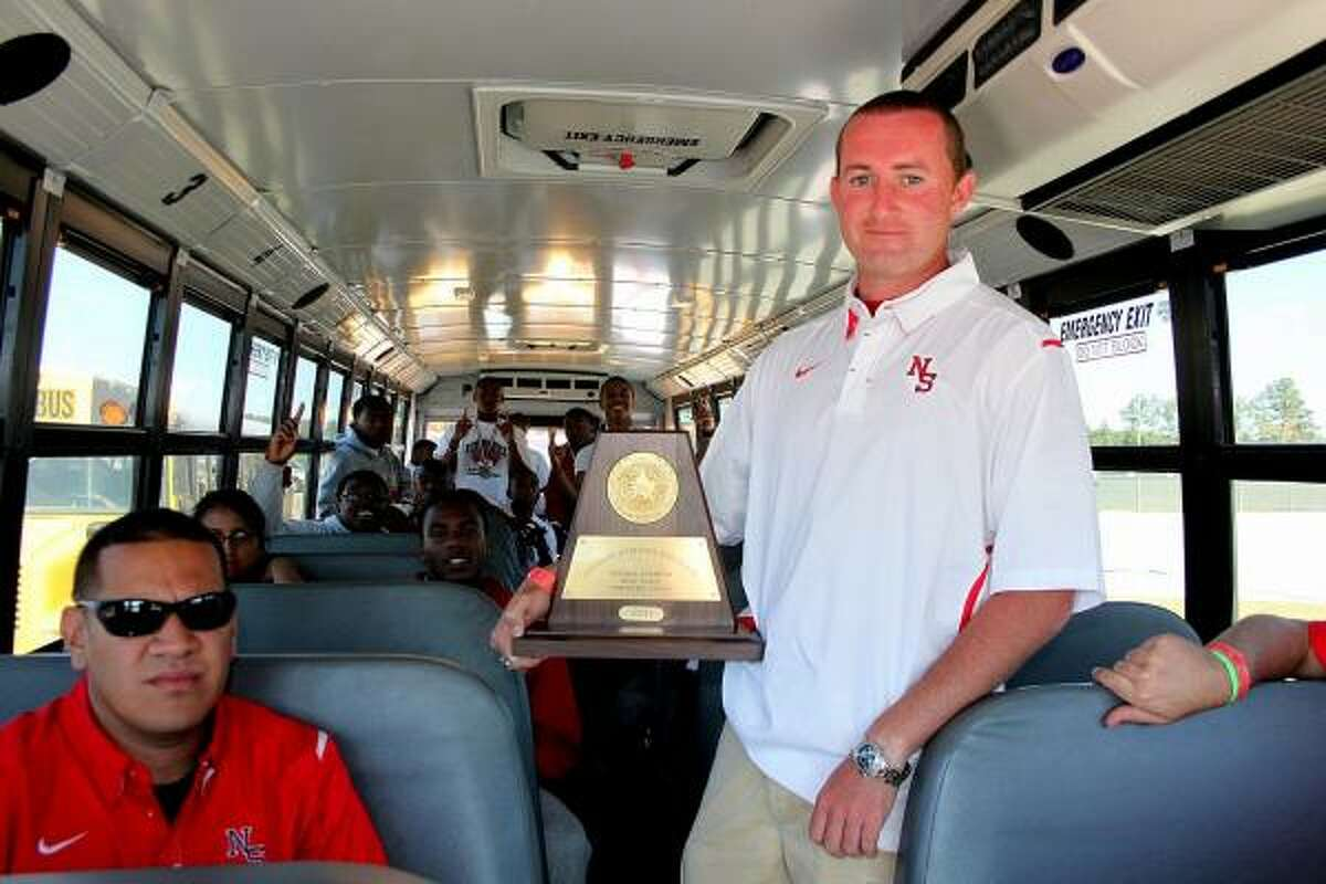 North Shore's coach Garrett Cross And his championship boys team on another ride to state in Austin.