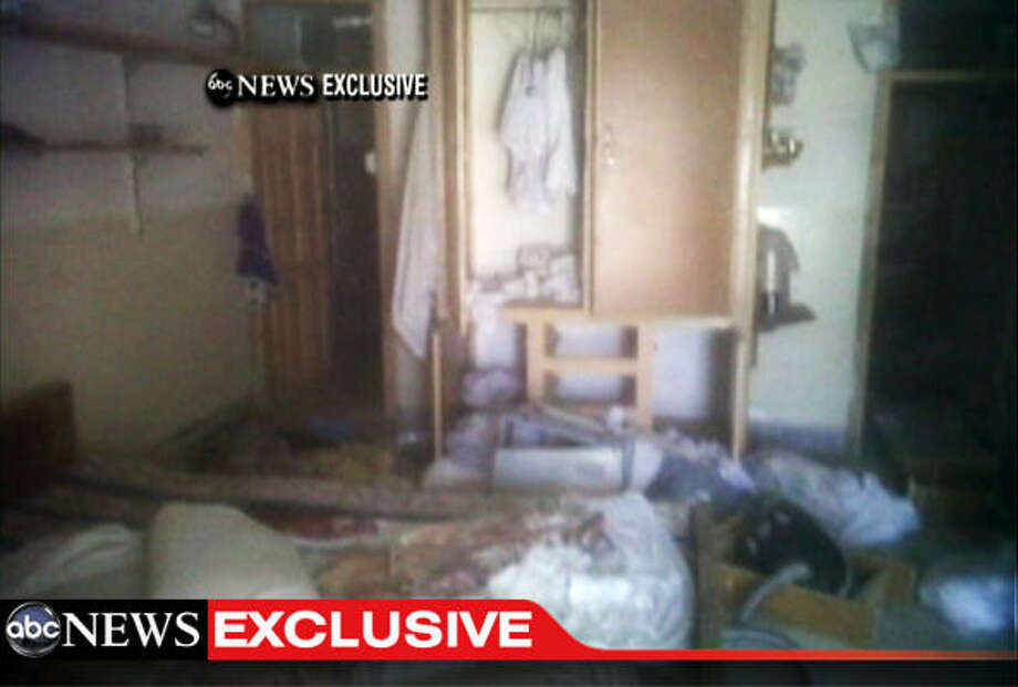 This frame grab from video obtained exclusively by ABC News shows a section of a room in the interior of the compound where it is believed al-Qaida leader Osama bin Laden lived in Abbottabad, Pakistan. Photo: Associated Press