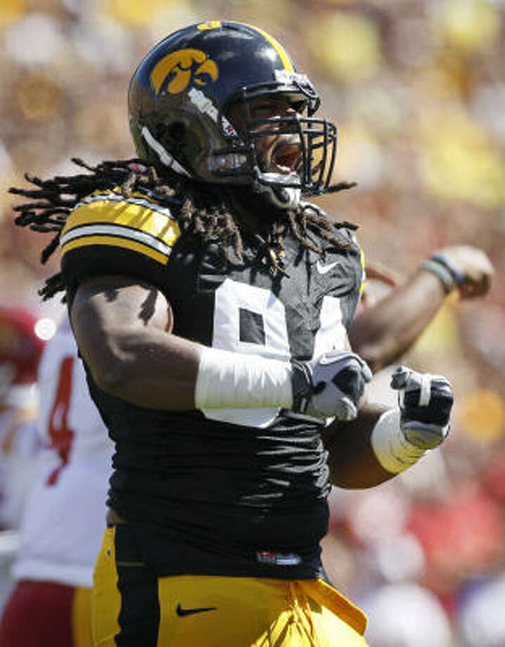 Tampa Bay BuccaneersIn two years, their defensive line could be Da'Quan Bowers and Adrian Clayborn (pictured) at end and Gerald McCoy and Brian Price, last season's first- and second-round picks, at tackle. Luke Stocker and Ahmad Black were good picks who could pay off as rookies.Grade: B Photo: Charlie Neibergall, AP