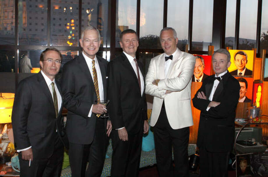 Marc Watts, Jay Jones, Tom Glanville, Bobby Tubor and Chuck Davidson Photo: Alan Warren, Houston Chronicle