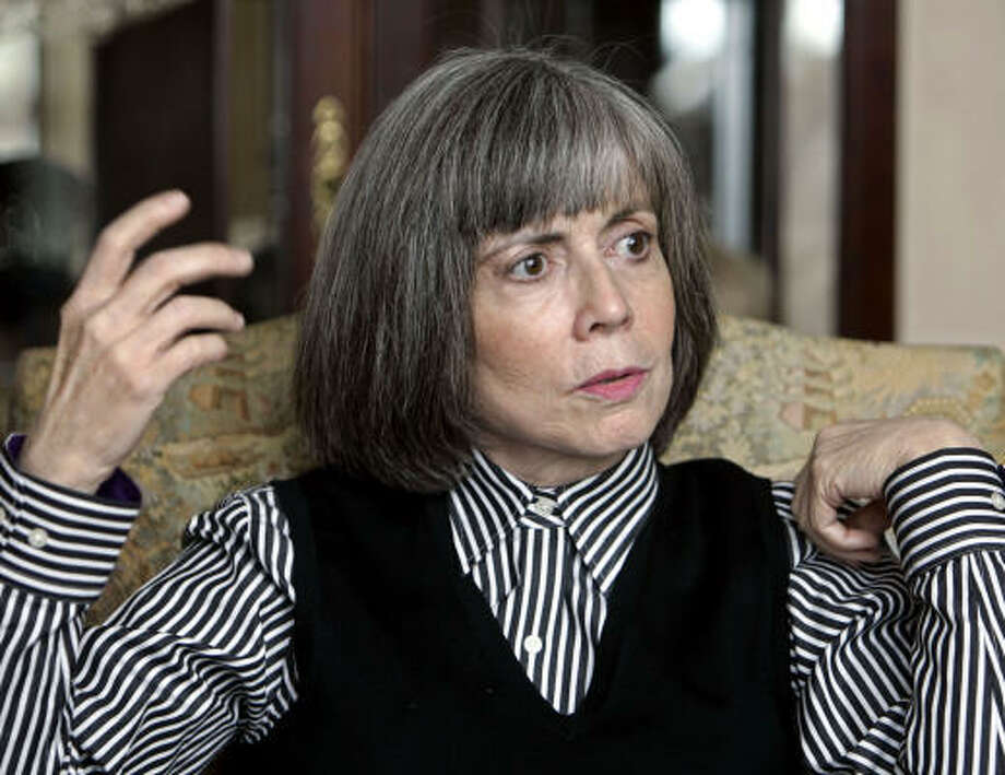 "Anne RiceRice, author of the Vampire Chronicles, announcedhref> in July: ""I quit being a Christian; I'm out."" Rice had recommitted herself to the Roman Catholic Church back in 2005 and had written a few Christian books ""for the Lord."" Photo: LENNY IGNELZI, AP"