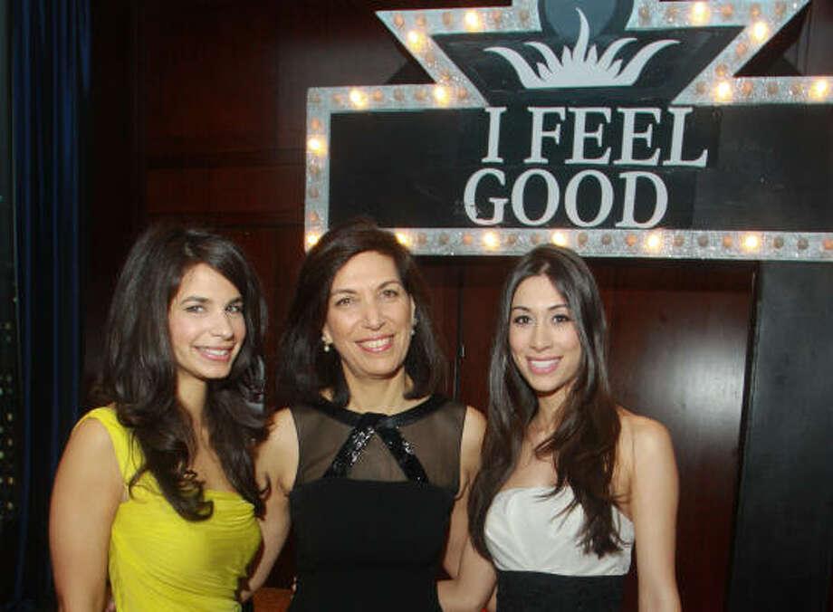 Roula Zoghbi, Huda Zoghbi and Zena Pinnella Photo: Gary Fountain, For The Chronicle