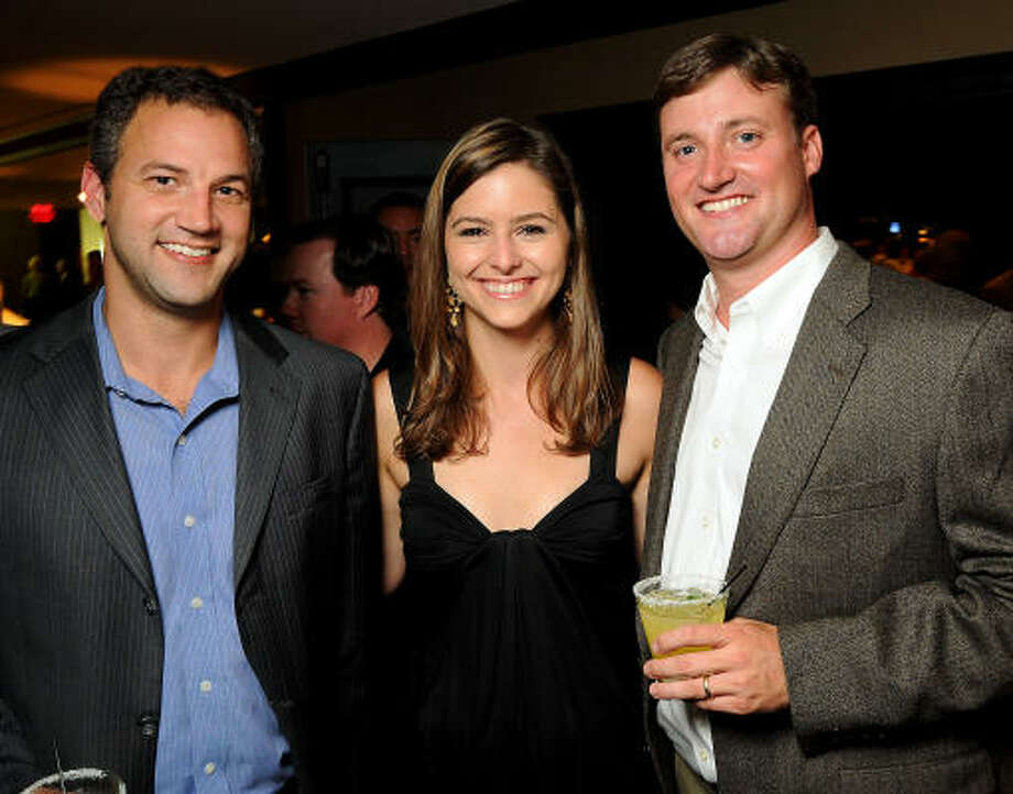 Brandon Barchus with Brittany and Travis Cassin Photo: Dave Rossman, For The Chronicle