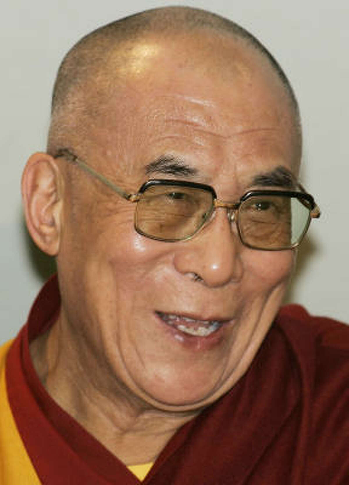 Tibetan spiritual leader Tenzin Gyatso, the 14th Dalai Lama