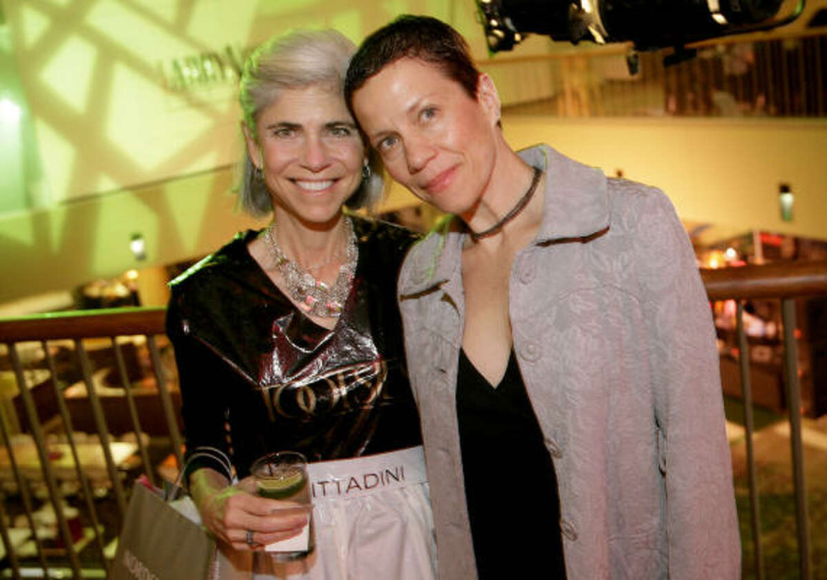 Judy Nyquist and artist of the year Jane Weiner