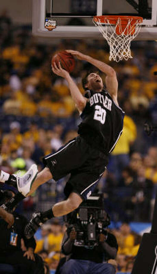 Well, Butler's backFor Butler, out of the little known Horizon League, to make it to the Final Four last year was one of the best stories in recent history. Now, for Butler to make it back, with Gordon Hayward gone to the NBA, it is one of the best stories in college basketball history, period. Photo: Karen Warren, Chronicle
