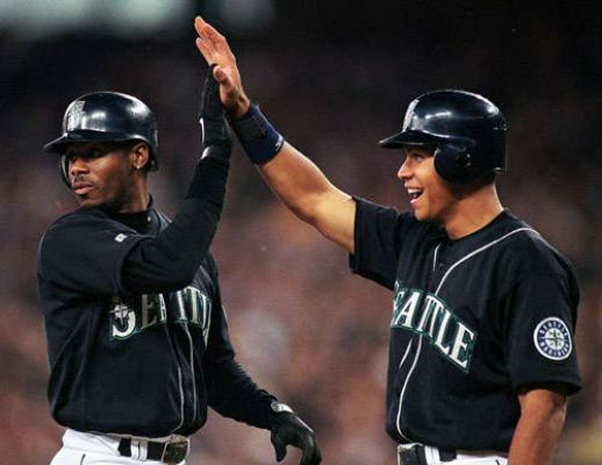 Seattle Mariners - Alex Rodriguez Ken Griffey Jr. (left), no doubt, is Mr. Mariner. And he was truly something to behold (630 home runs, 1,886 RBI, 10 Gold Gloves, one MVP). As as great as Griffey was, ARod has been even better (613 home runs and 1,831 RBI, three MVPs and still going). Griffey's average stat line over his best 10 years: .302, 38 homers, 109 RBI, 100 runs scored. ARod's average stat line over his best 10 years: .303, 45, 125, 122. And that 10-year run doesn't even include him batting .358 and finishing second in the MVP voting when he turned 21. If ARod had stayed at shortstop, he could have usurped Honus Wagner as the greatest ever to play the position.