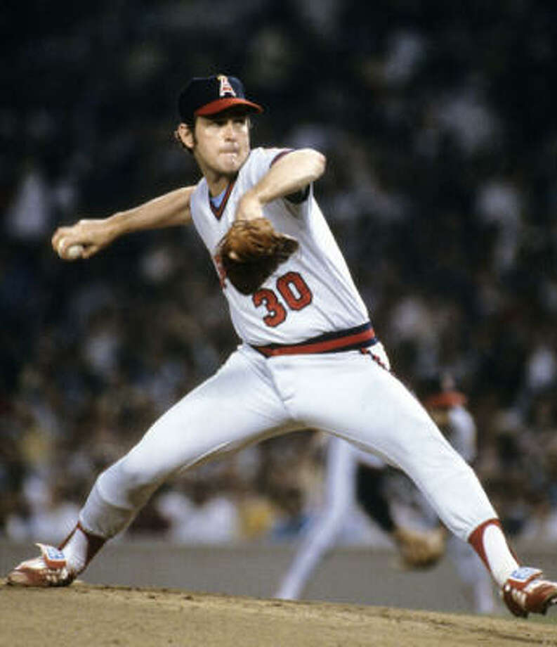 Los Angeles Angels– Nolan Ryan The pride of Alvin (though a native of Refugio) launched his career during eight seasons with the Angels, going 138-121 with a 3.07 ERA and seven strikeout titles from 1972-1979. Both of his 20-win seasons came as an Angel. He wound up with 324 wins, along with two records it's hard to fathom falling: 5,714 strikeouts and seven no-hitters. Photo: Getty Images File Photo