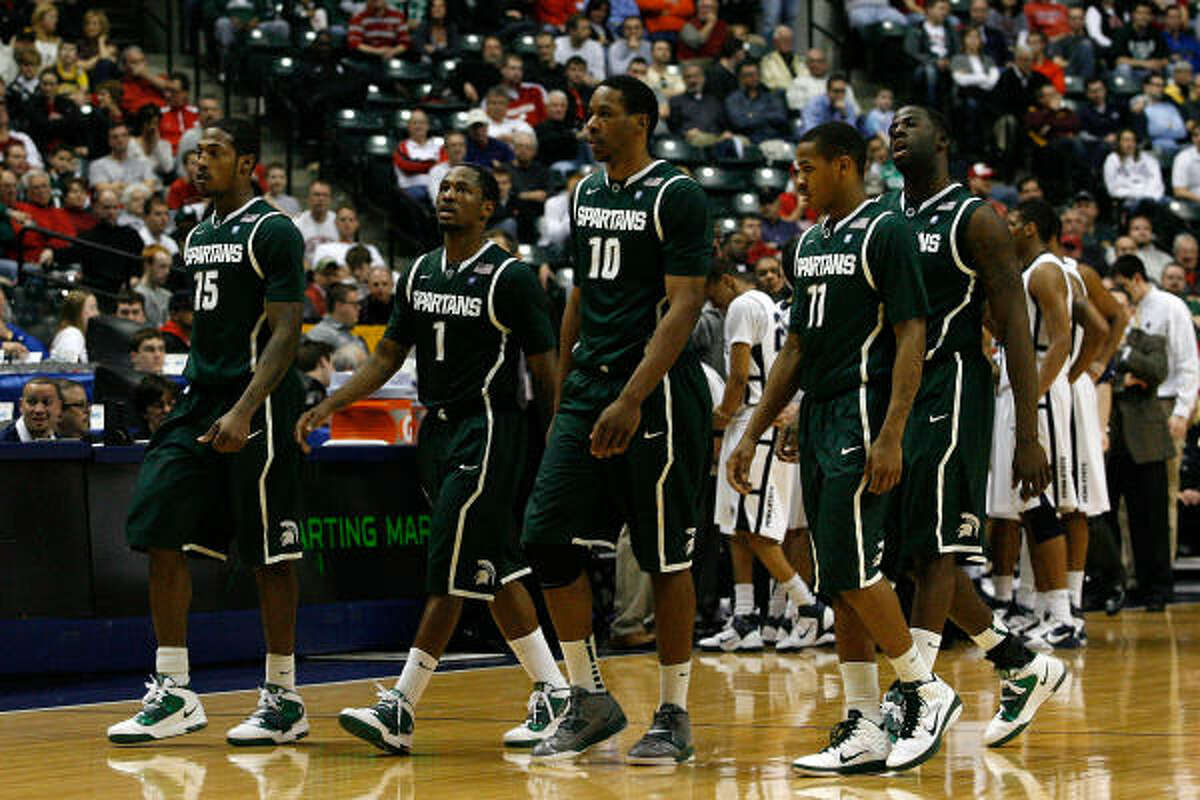 10 Michigan St. Spartans (19-14) • Finish and bid: 9-9, fourth place in the Big Ten; at-large bid. • Coach: Tom Izzo (16th season). • Best player: G Kalin Lucas, 6-1, Sr., 17.2 ppg, 3.3 apg. • Best wins: Washington, Wisconsin, Purdue. • Road to Reliant: 1,.082 miles. • Notable: Pegged a Final Four contend-er, they scratched into the field. Izzo is a March wizard, but they shoot poorly and are too turnover-prone to be a threat.