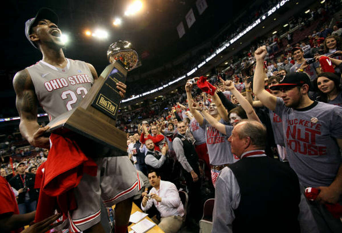EAST REGION1 Ohio St. Buckeyes (32-2) • Finish and bid: 16-2, first place in Big Ten; automatic bid. • Coach: Thad Matta (seventh season). • Best player: F Jared Sullinger, 6-9, Fr., 17.2 ppg, 10.2 rpg. • Best wins: at Florida, vs. Purdue. • Road to Reliant: 995 miles. • Notable: They are second in FG pct. (49.3) and third in turnover margin (4.9). A potential sore spot is a lack of depth as they rank 337th nationally in bench minutes.