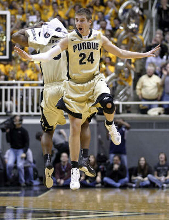 3 Purdue Boilermakers (25-7). Finish and bid: 14-4, second place in Big Ten; ?at-large bid.  . Coach: Matt Painter (sixth season).  . Best player: C-F JaJuan Johnson, 6-10, Sr., 20.5 ppg, 8.2 apg.  . Best wins: at Illinois, Wisconsin, Ohio St..  . Road to Reliant: 876 miles.  . Notable: It's the last shot for Johnson and co-star E'Twaun Moore (18.2 ppg), who have won 106 career games but not gotten past the Sweet 16. Photo: Michael Conroy, AP