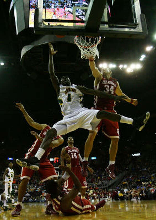 Baylor's Quincy Acy shoots the ball against the Sooners. Photo: Jamie Squire, Getty Images