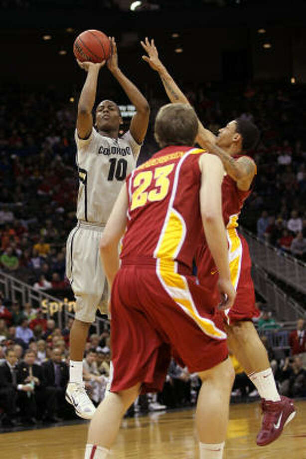 First round: Colorado 77, Iowa State 75Alec Burks scored 25 of his 29 points in the second half and the Buffaloes unleashed a 12-2 run in the final minutes to slip past the 12th-seeded Cyclones. Photo: Jamie Squire, Getty Images