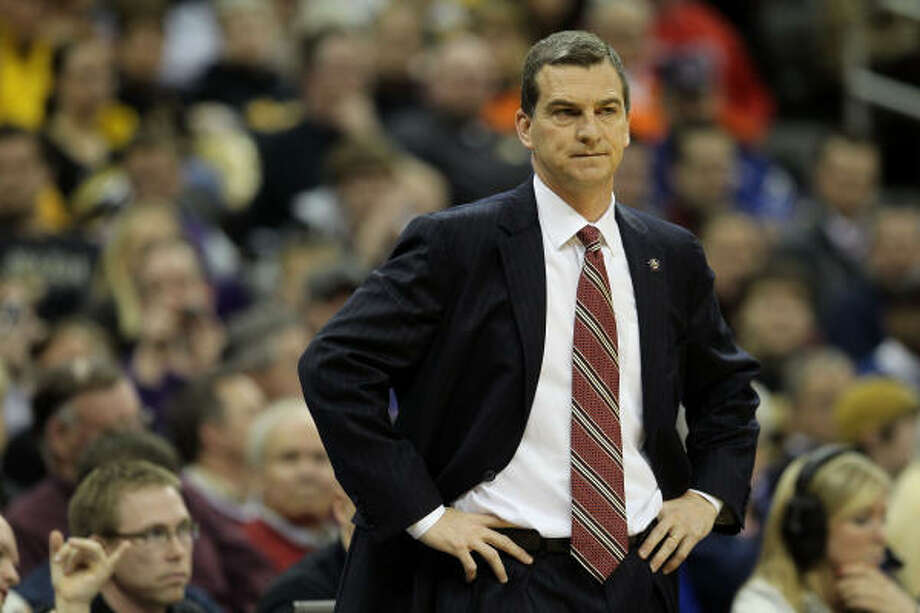 A&M head coach Mark Turgeon looks on during the win. Photo: Jamie Squire, Getty Images
