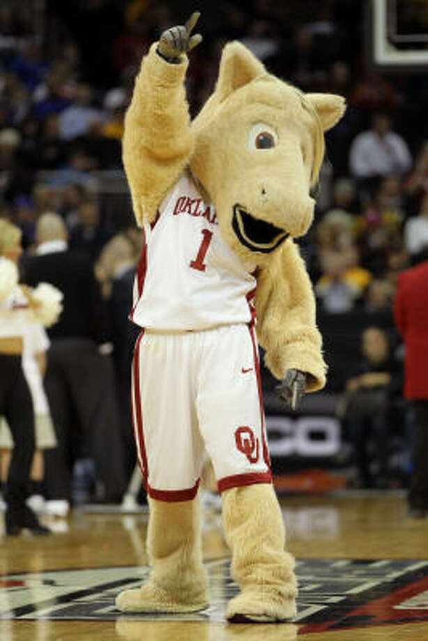 The Oklahoma Sooners mascot performs during the game. Photo: Jamie Squire, Getty Images