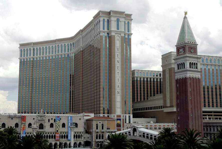 The Venetian Hotel and Casino is seen on the Las Vegas Blvd.