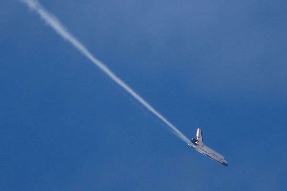 Discovery has flown 143 million miles.