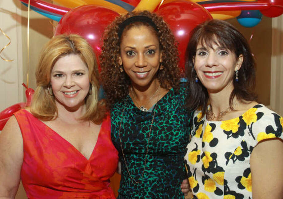Kelli Weinzieri, Holly Robinson Peete and Shelley Barineau Photo: Gary Fountain, For The Chronicle