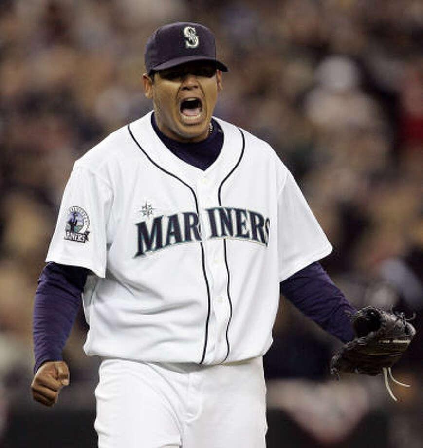 Felix Hernandez, Seattle Mariners Year: 2006 W-L: 12-14 ERA: 4.52 Starts: 31 IP: 191 BB: 60 Ks: 176 Photo: Elaine Thompson, AP