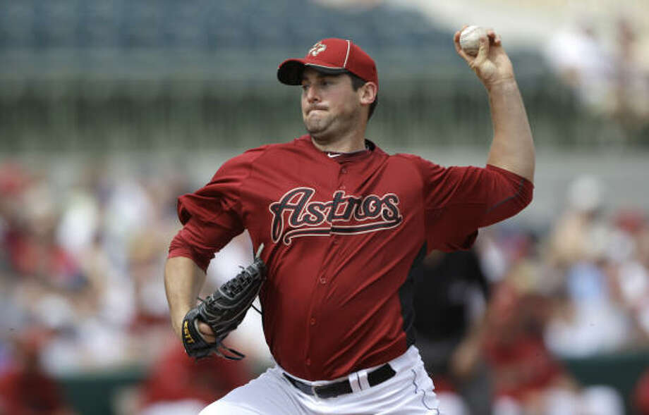 March 4: Cardinals 10, Astros 2Astros starter Ryan Rowland-Smith was roughed up for three runs on four hits in two innings during Friday's loss to the Cardinals. Photo: David J. Phillip, AP
