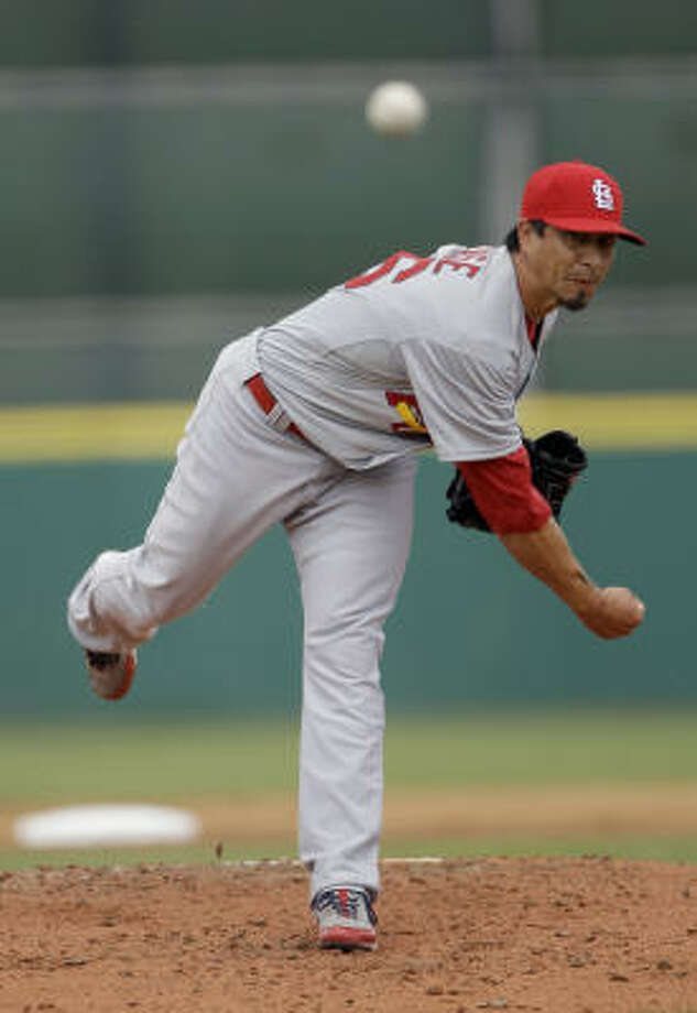 Cardinals starter Kyle Lohse held the Astros to one run in three innings. Photo: David J. Phillip, AP