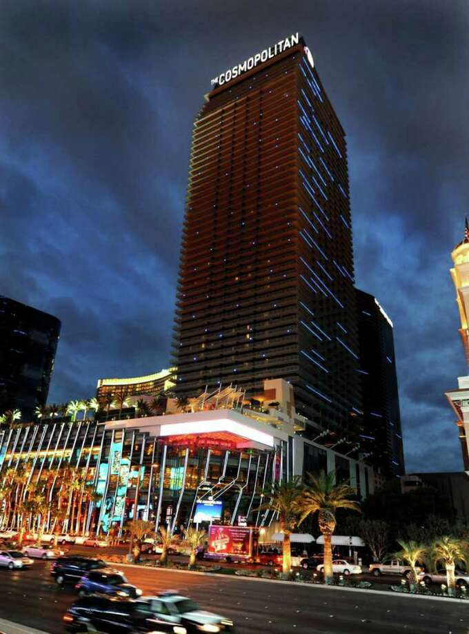 In this photo provided by the Las Vegas News Bureau, the Cosmopolitan of Las Vegas is seen on the Las Vegas Strip December 15, 2010 in Las Vegas, Nevada.  (Photo by Brian Jones/Las Vegas News Bureau via Getty Images) Photo: Handout, Hearst / Getty Images North America
