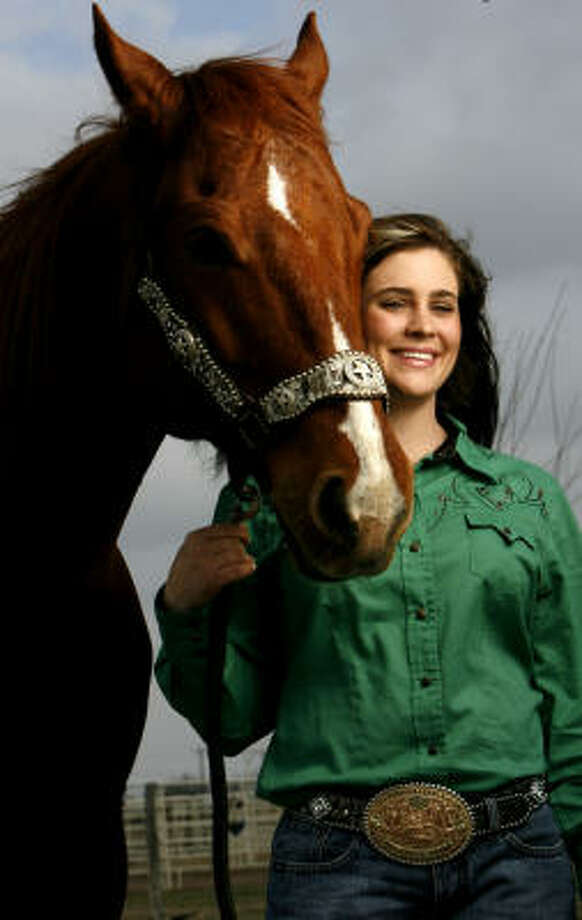 Brittany PozziThe Victoria-based barrel racing queen has been on the back of a horse since she was about 9 years old. Since her rookie year in 2003, she has won a place in the top ranks of the sport with big wins at the National Finals Rodeo, where she was named world champion in 2007 in her event. She has also won Women's Professional Rodeo Association champion titles and consistently turns in top times as she circles the barrels. Photo: Karen Warren, Houston Chronicle