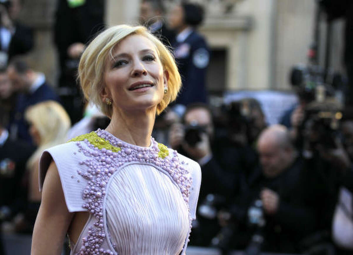 Cate Blanchett , strangely space alien in something that's more architecture than dress.