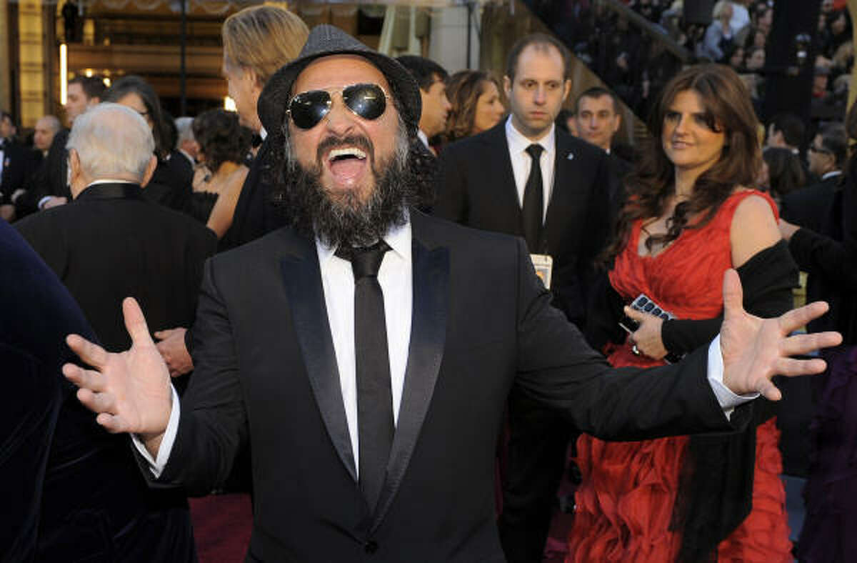Thierry Guetta (Mr. Brainwash) on a Hollywood red carpet in 2010, when he was the subject of Banksy's documentary
