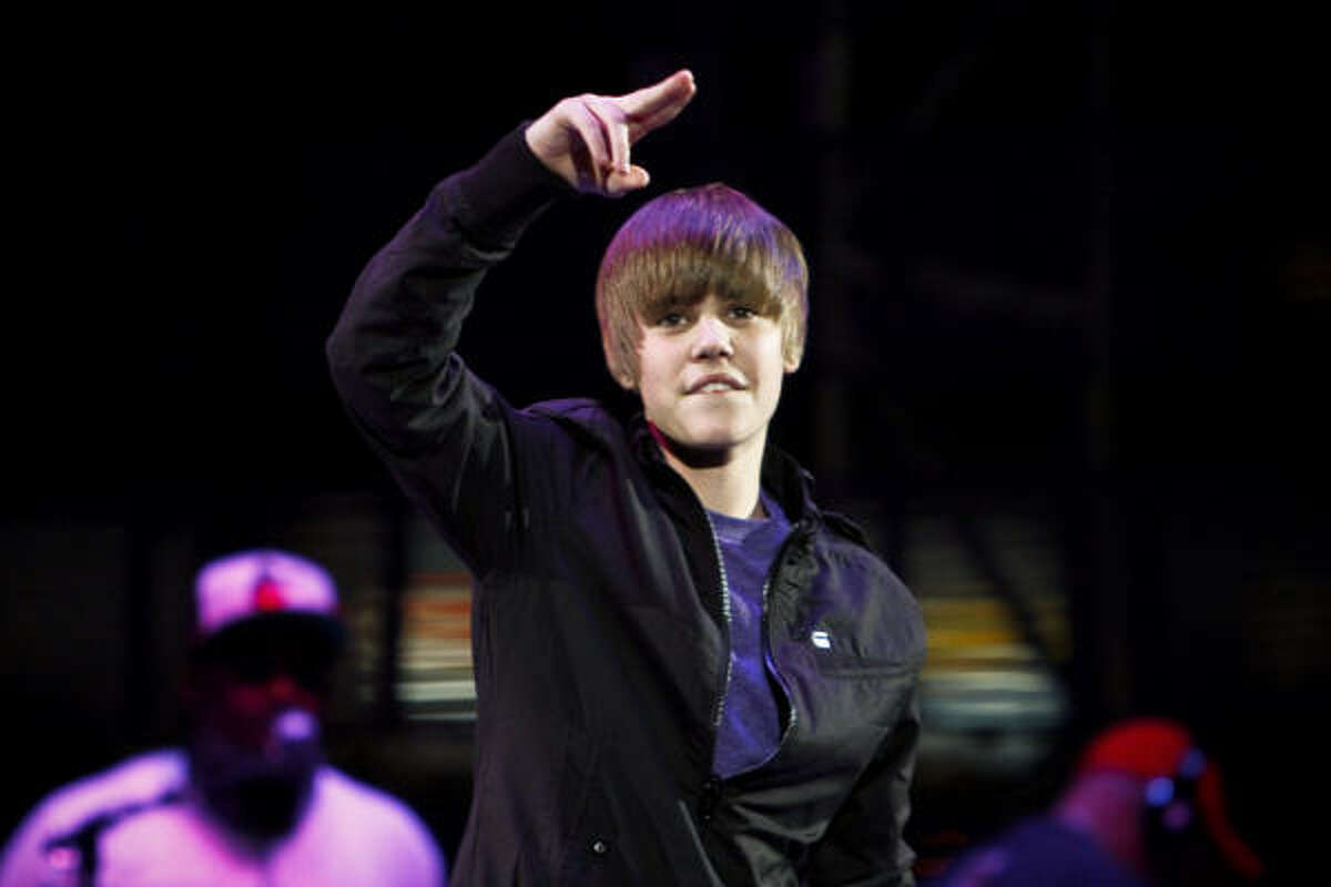 March 21: Justin Bieber performs during the 2010 Houston Livestock Show and Rodeo Houston at Reliant Park in Houston.