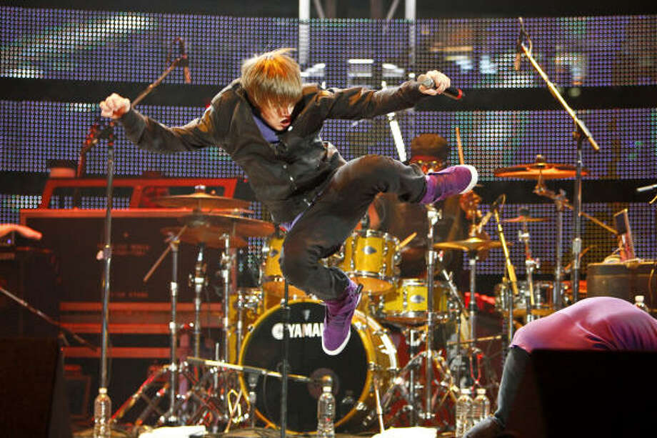March 21:Justin Bieber performs during the 2010 Houston Livestock Show and Rodeo Houston at Reliant Park. Photo: Michael Paulsen, Chronicle