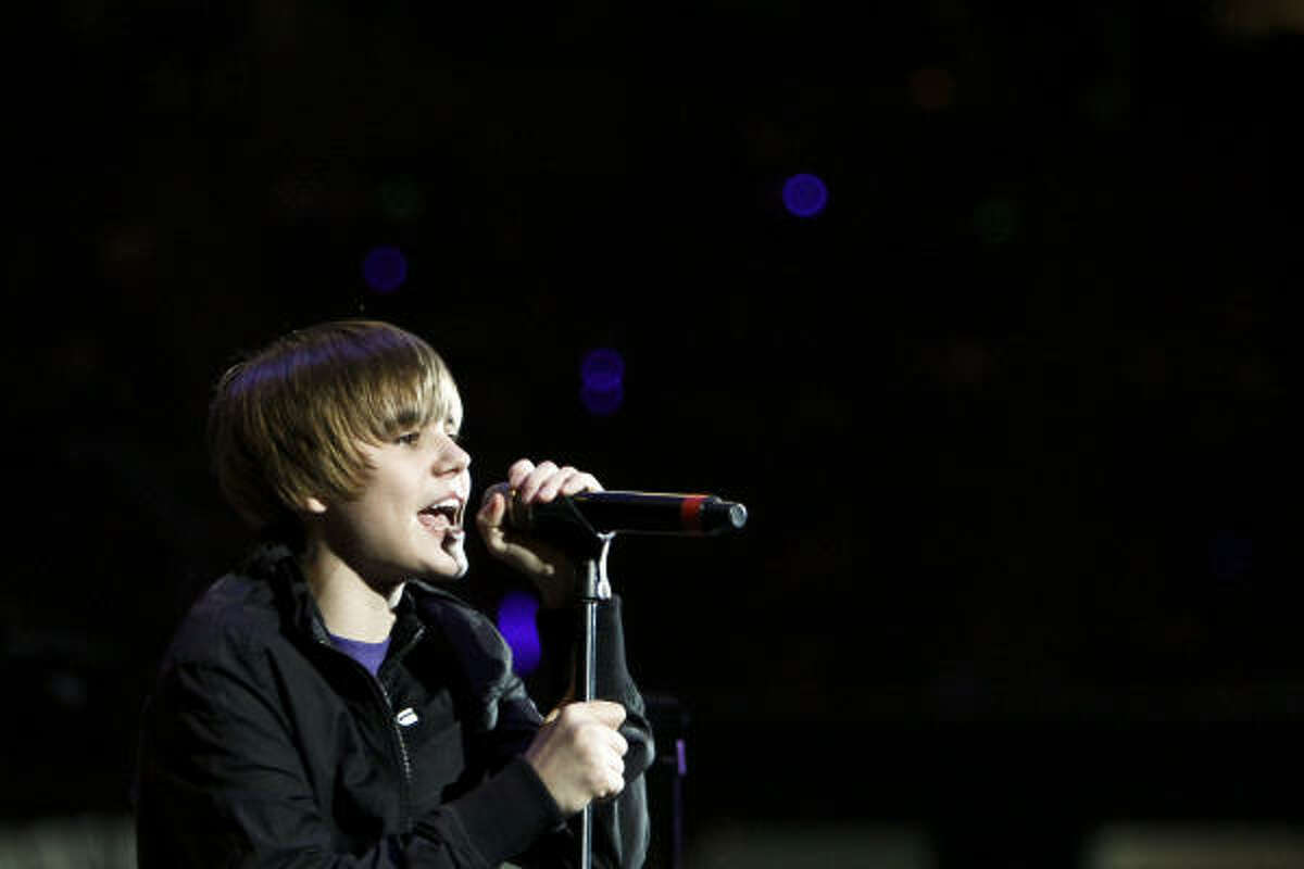 March 21: Justin Bieber performs during the 2010 Houston Livestock Show and Rodeo Houston at Reliant Park.