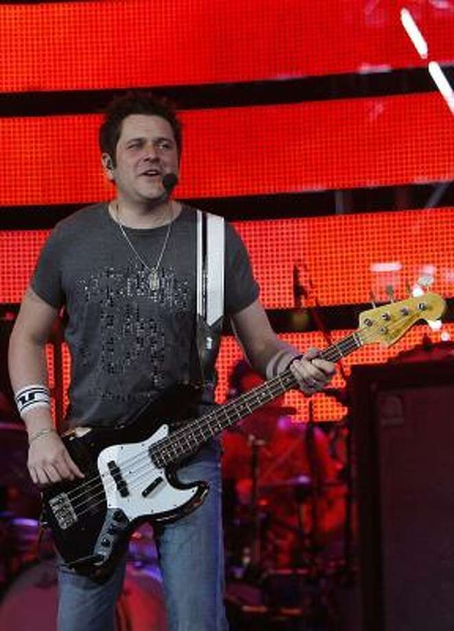 """Rascal Flatts Jay Demarcus:""""I can remember it like it was yesterday. It's amazing to me to think that it's been ten years because it's still so vivid in my mind,"""" who with the band was celebrating their first gold album on the day. Photo: Mayra Beltran, Chronicle"""