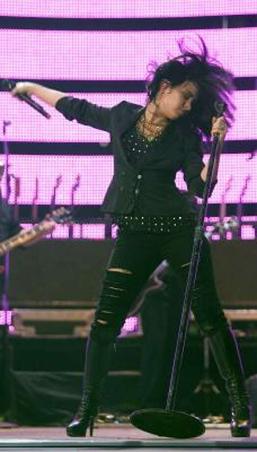 Demi Lovato opens for the Jonas Brothers at the Houston Livestock Show and Rodeo at Reliant Stadium in 2010 Photo: Mayra Beltran, Chronicle