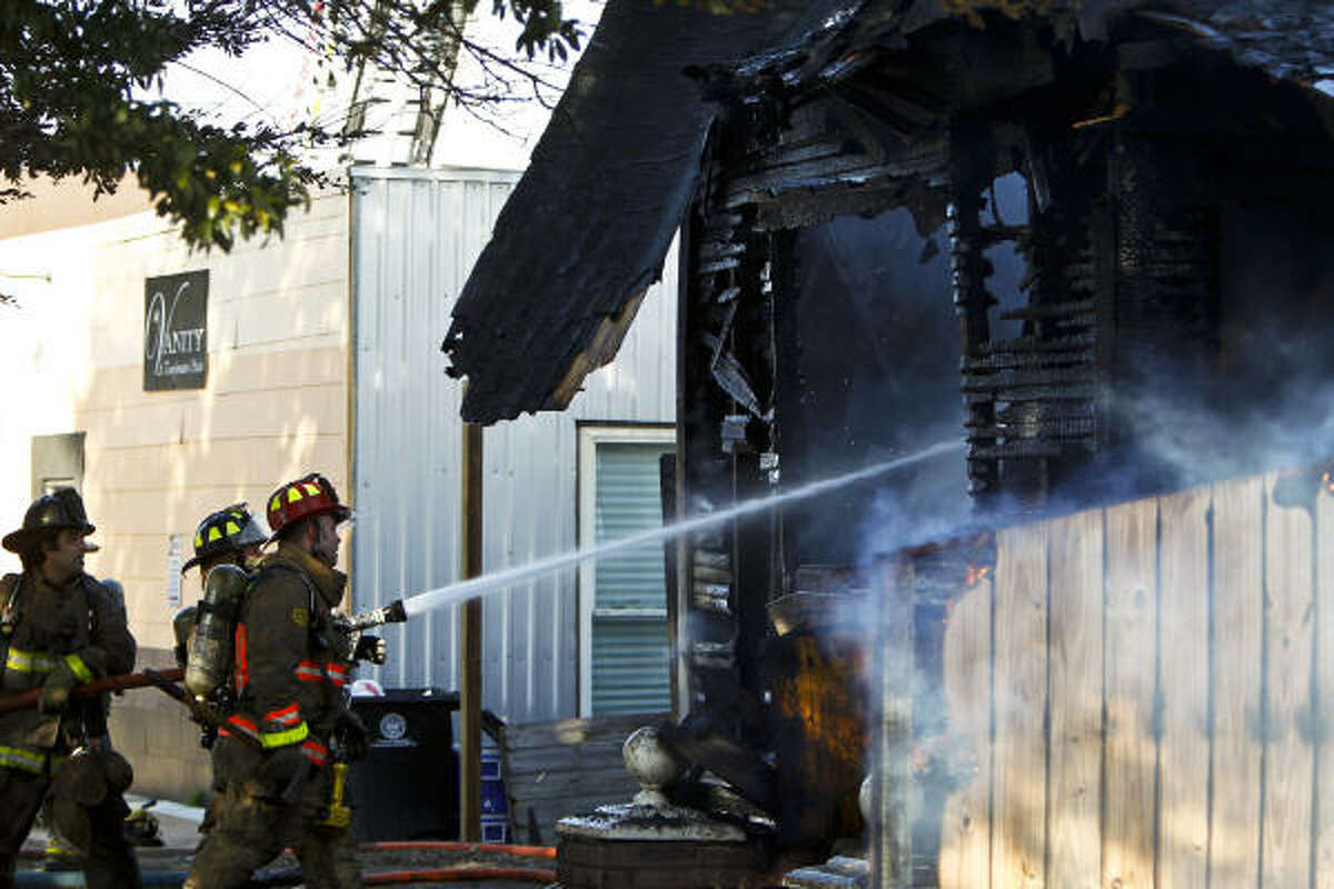 The blaze was reported about 3:15 p.m. at the small, wood-frame home.