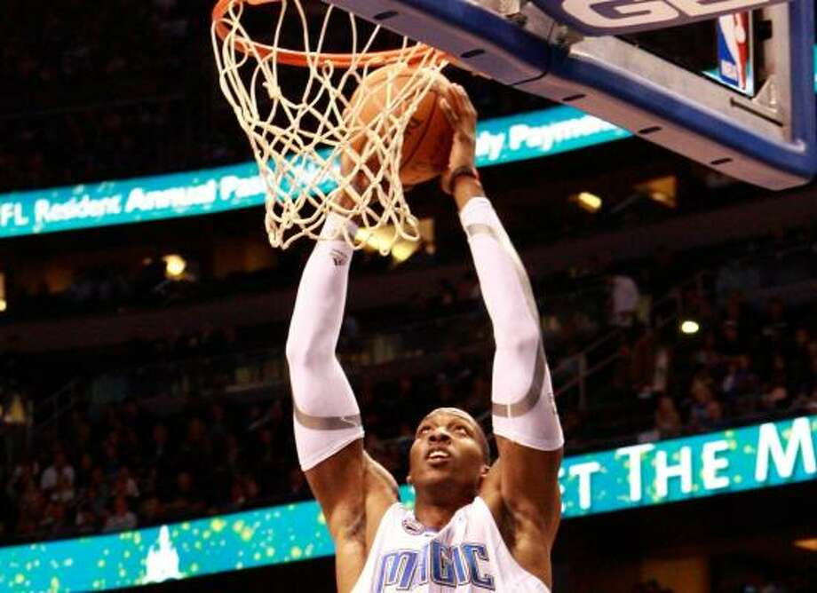 Dwight Howard, Magic Dunks: 100  Pct. of made shots: 30.4%  Photo: Sam Greenwood, Getty Images